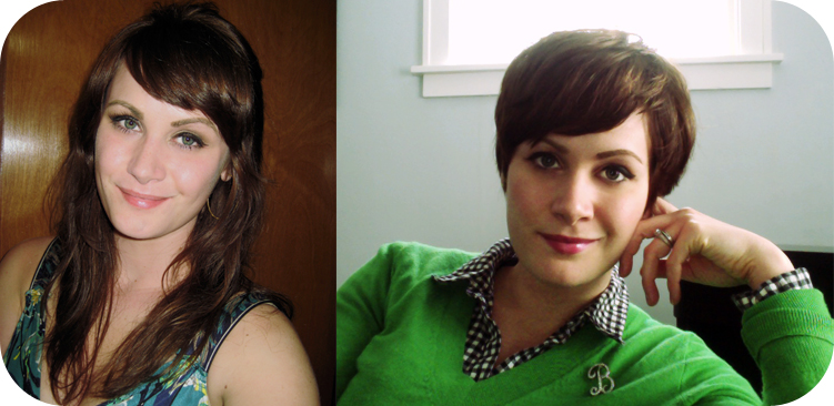 Curly Pixie Cut Before And After